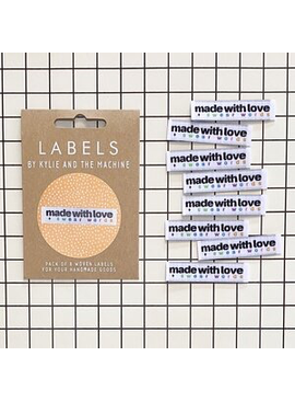 """Kylie and the Machine Kylie and the Machine Labels Sewing Tags """"Made with Love + Swear Words"""""""