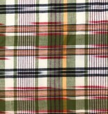 Stylecrest Fabrics Green / Red Cotton Madras Plaid