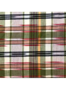 Stylecrest Fabrics Green / Red Cotton Madras Plaid