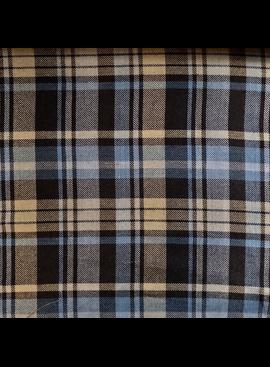 Fabric Mart Navy / Gray / Cobalt Twill Plaid Flannel