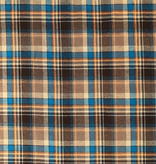 S. Rimmon & Co. Plaid Teal / Brown Brushed Plaid Shirting