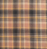 S. Rimmon & Co. Brown Brushed Plaid Shirting