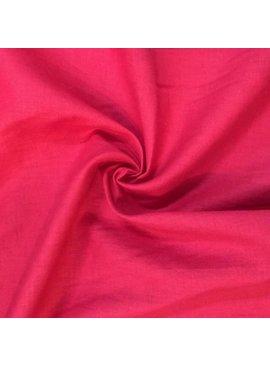 Red Slub Textured Cotton