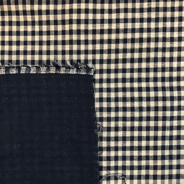 S. Rimmon & Co. Double Sided Blue Gingham Double Gauze