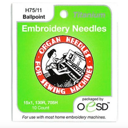 Organ Organ Embroidery Ballpoint Titanium Needles 75/11