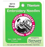 Organ Organ Embroidery Sharps Titanium Needles 90/14