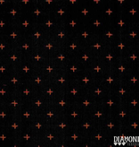 Diamond Textiles Manchester Black Orange Pluses