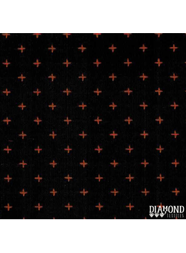 Diamond Textiles Manchester Black Orange Pluses