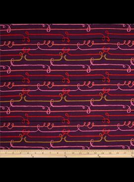 Cotton + Steel Honeymoon by Sarah Watts: Rayon Zipline Purple
