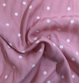 S. Rimmon & Co. Pink with White Polka Dot Rayon