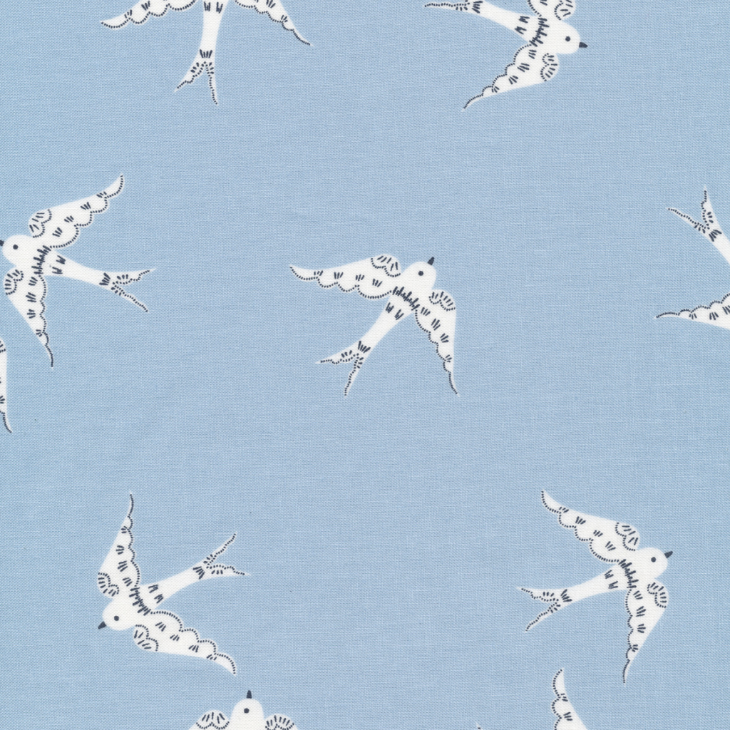 Cloud 9 Cloud 9 Organic Matte Laminated Cotton Graceful Dove Blue / White