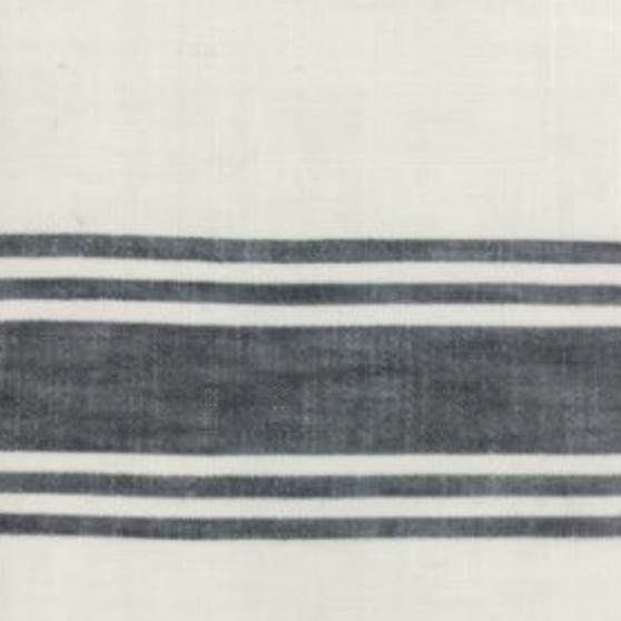 "Moda 16"" Toweling Urban Cottage Ivory w/ Black Stripe"