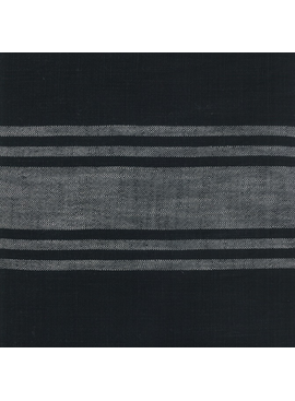 "Moda 16"" Toweling Urban Cottage Black w/ Grey Stripe"