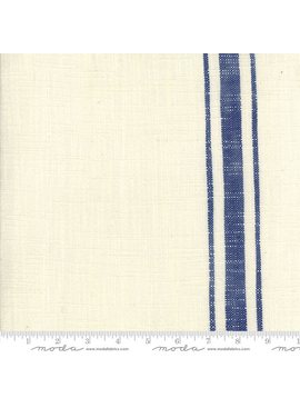 "Moda 16"" Toweling Blue Plate Cream w/ Blue Stripe"