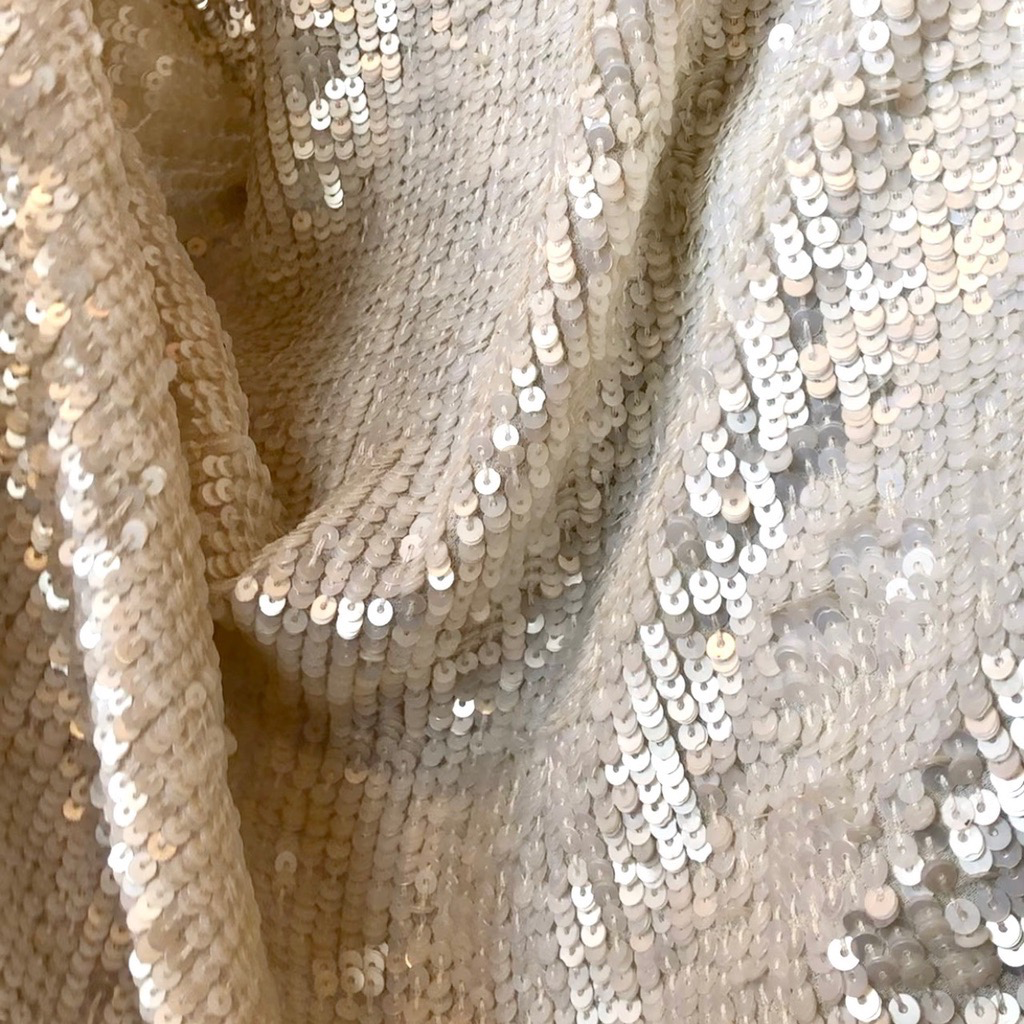 S. Rimmon & Co. Sequin Chiffon Ivory