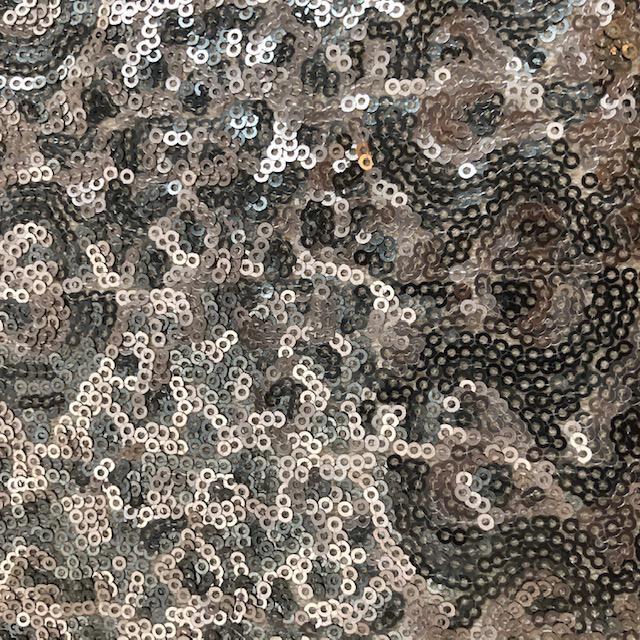 S. Rimmon & Co. Sequin Mesh Silver Grey