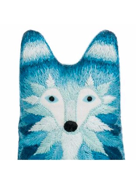 Kiriki Press Kiriki Press Embroidered Doll Kit Wolf