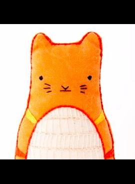 Kiriki Press Kiriki Press Embroidered Doll Kit Tabby Cat