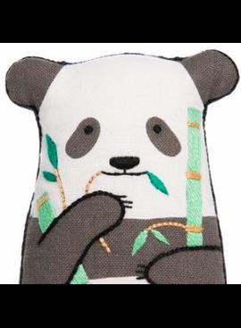 Kiriki Press Kiriki Press Embroidered Doll Kit Panda