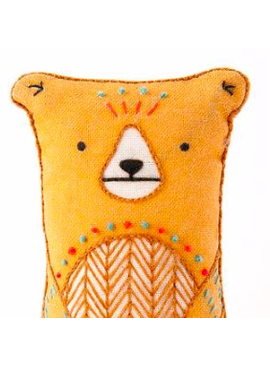 Kiriki Press Kiriki Press Embroidered Doll Kit Bear