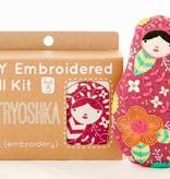 Kiriki Press Kiriki Press Embroidered Doll Kit Matryoshka