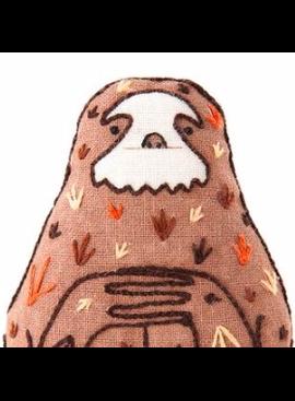 Kiriki Press Kiriki Press Embroidered Doll Kit Sloth