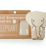 Kiriki Press Kiriki Press Embroidered Doll Kit Elephant