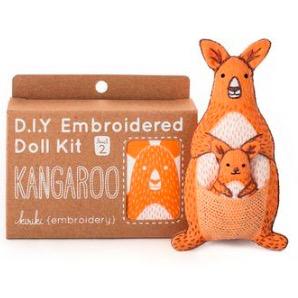 Kiriki Press Kiriki Press Embroidered Doll Kit Kangaroo