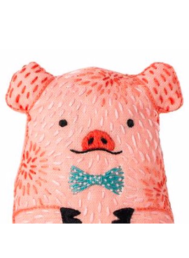 Kiriki Press Kiriki Press Embroidered Doll Kit Pig