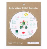 Kiriki Press Kiriki Press Embroidery Stitch Sampler: Succulent