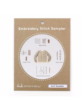 Kiriki Press Kiriki Press Embroidery Stitch Sampler: Knit Sweater