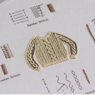 Kiriki Press Kiriki Press Embroidery Stitch Sampler: Knit Sweater