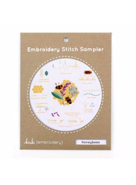 Kiriki Press Kiriki Press Embroidery Stitch Sampler: Honey Bees