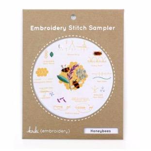 Kiriki Press Kiriki Press Embroidery Stitch Sampler: Honey Bees