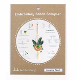 Kiriki Press Kiriki Press Embroidery Stitch Sampler: Hanging Plant