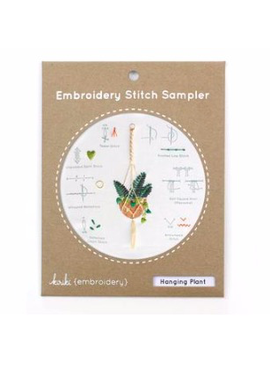 Kiriki Press Kiriki Press Embroidery Stitch Sampler: Hanging Plant