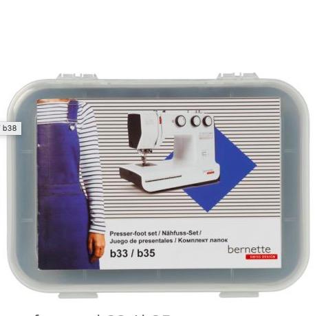 Bernina Bernette Presser Feet 10pc Kit (b33/35)
