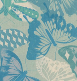 Cotton + Steel Flutter by Melody Miller, Flutter Aqua, Unbleached cotton Fabric
