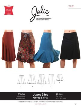 Jalie Jalie Knit Gored Skirts Pattern