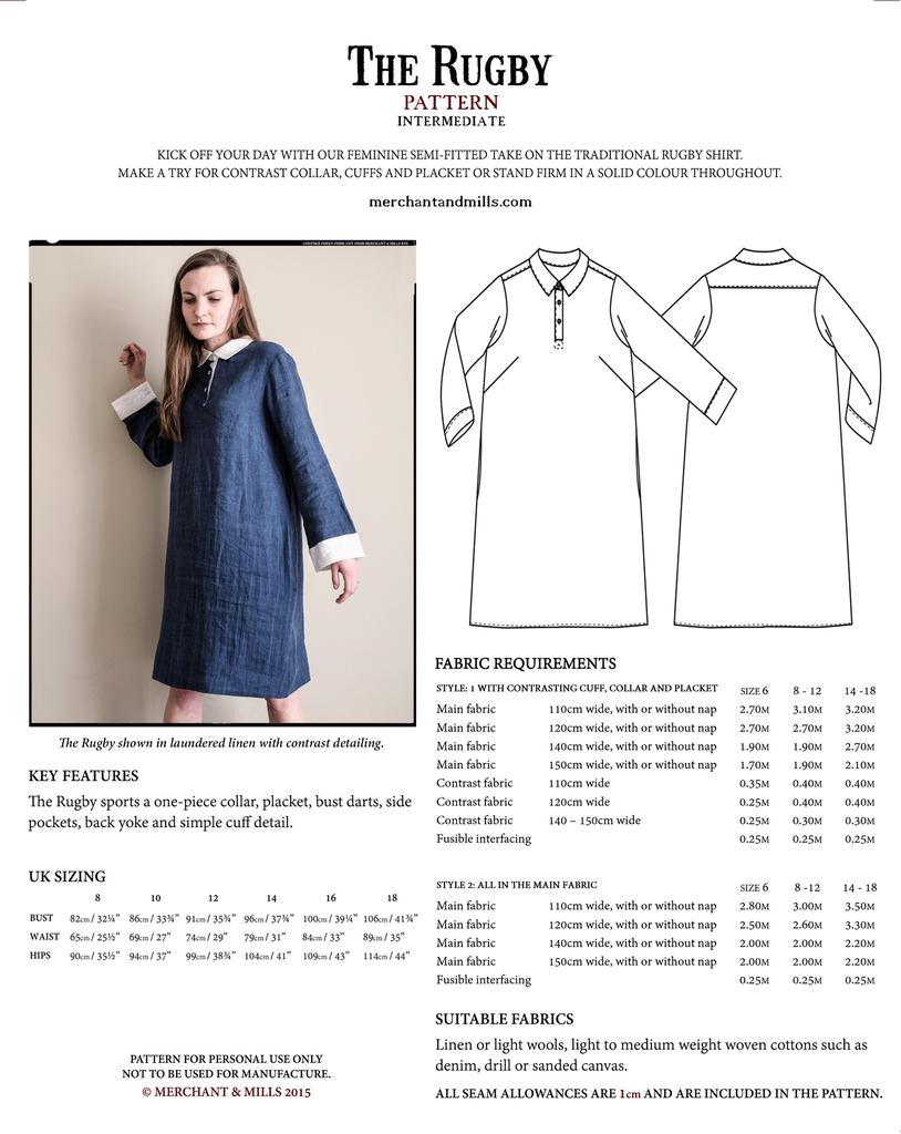 Merchant & Mills Merchant & Mills Rugby Dress Pattern