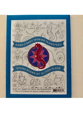 Brewer Alison Glass Embroidery Iron-On Transfers - Diving Board