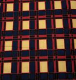Fabrics USA Inc Ankara - Blue, Red and Beige Plaid