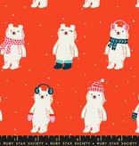 Ruby Star Society Flurry by Ruby Star Society Red Snow Bears