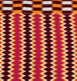 Fabrics USA Inc Ankara -  Red, orange and hot pink tribal zig-zag