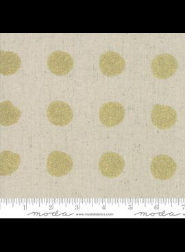 Moda Chill Mochi Linen Gold Dots