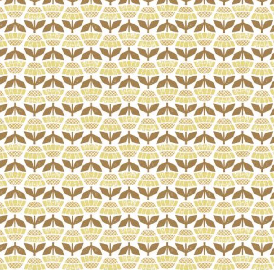 Cotton + Steel Along the Fields by Cotton + Steel Helenium Mellow Yellow
