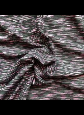 Pinecrest Fabrics Pink Black Activewear Strata Space Dye Spandex