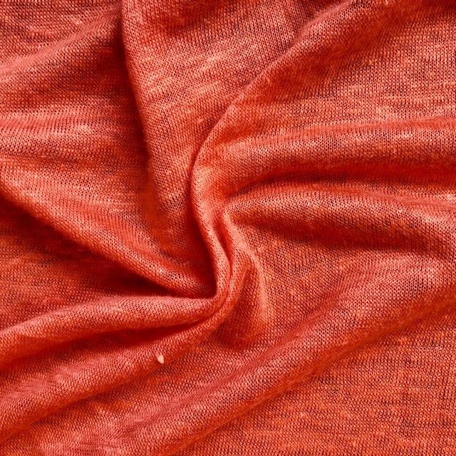 Fabric Mart Orange Linen Knit