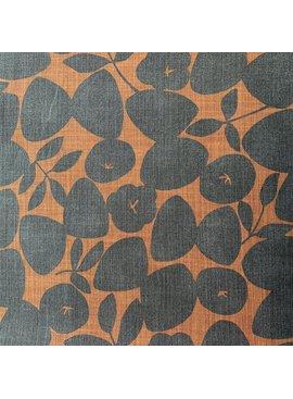 Kokka Kokka Simple Life Canvas: Ochre / Grey Circles