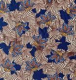 Elliot Berman Floral Stripe Viscose Knit